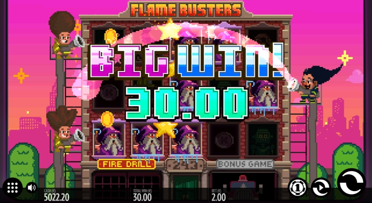 Flame Busters thunderkick bonus big win 3
