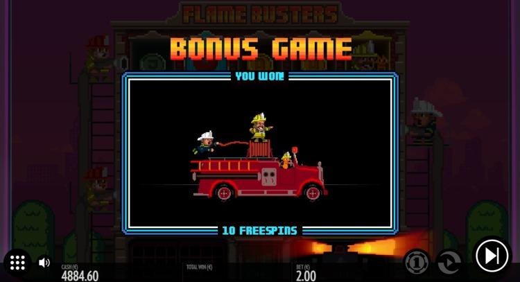 Flame Busters thunderkick bonus game
