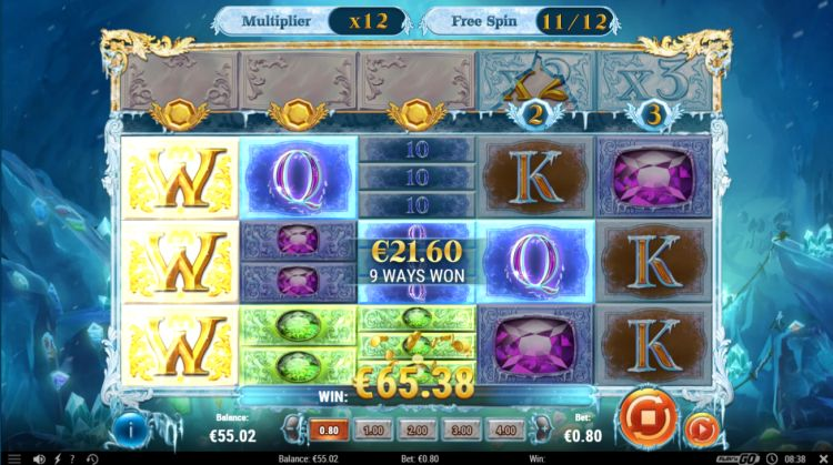 Frozen Gems review free spins big win
