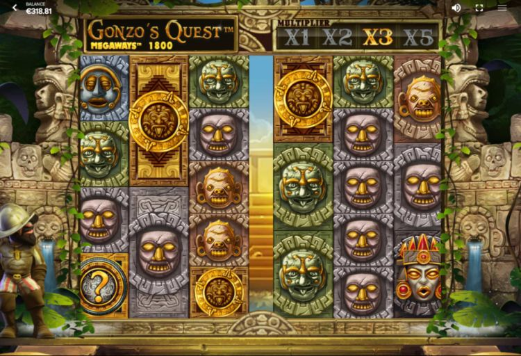 Gonzo's Quest Megaways red tiger gaming