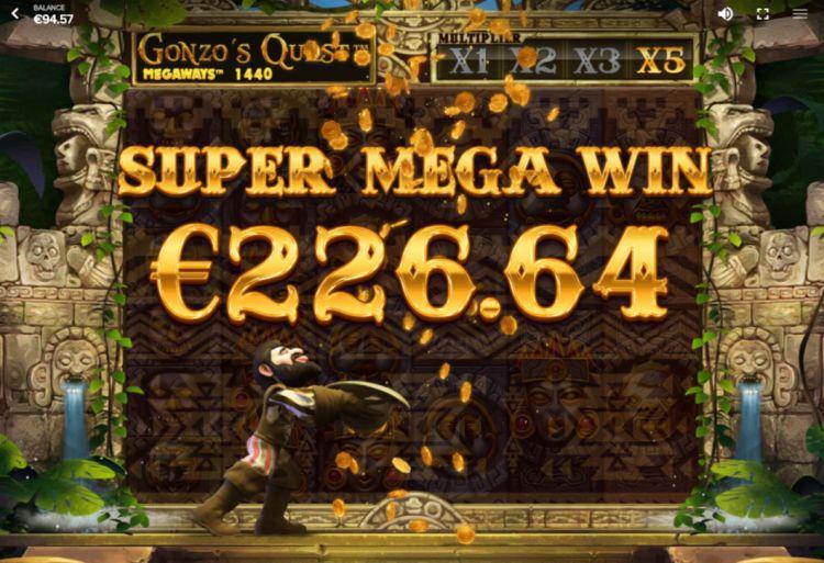 Gonzo's Quest Megaways review red tiger gaming mega big win