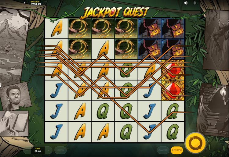 Jackpot Quest red tiger slot review win