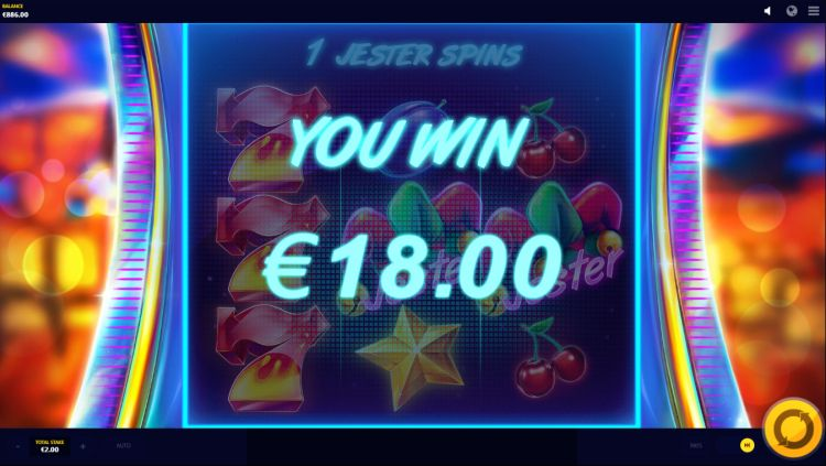 Jester Spins Red Tiger bonus win