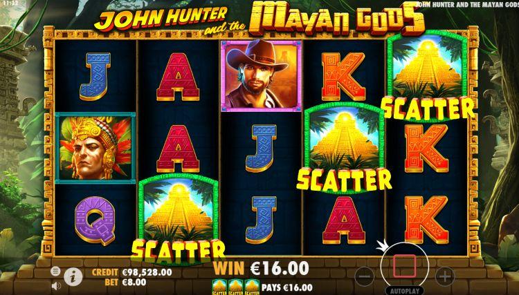 John Hunter and the Mayan Gods slot review bonus trigger