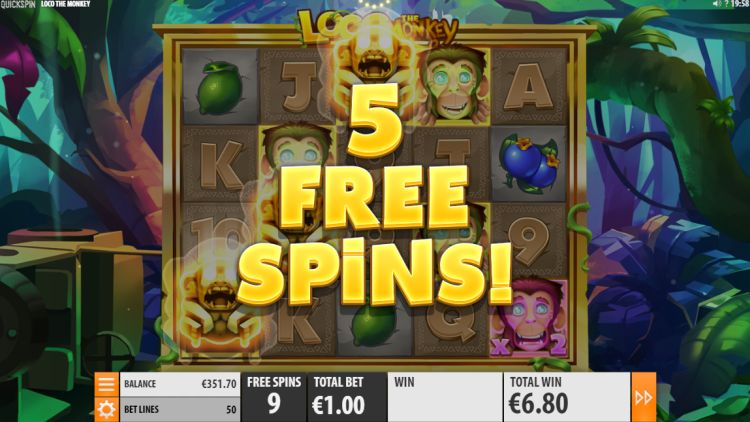 Loco the monkey slot review free spins retrigger