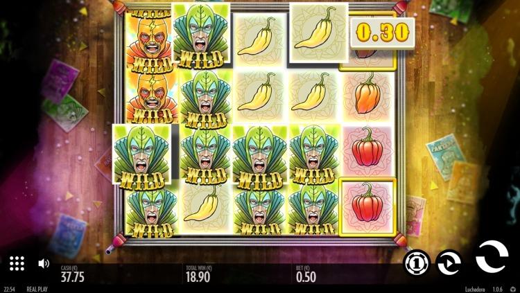 Luchadora thunderkick slot big win 5