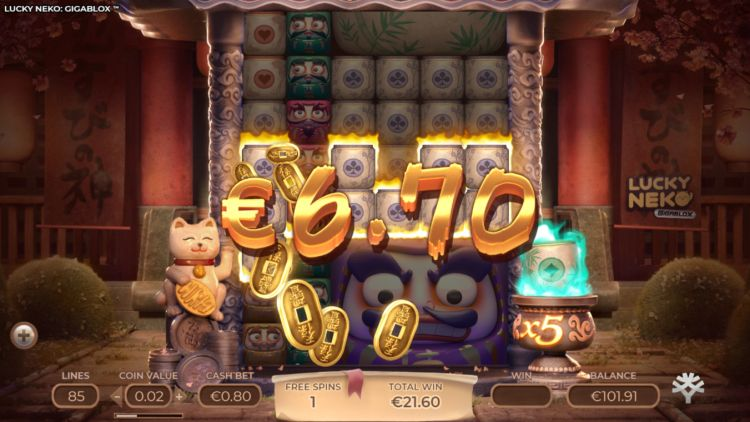 Lucky Neko Gigablox review bonus win