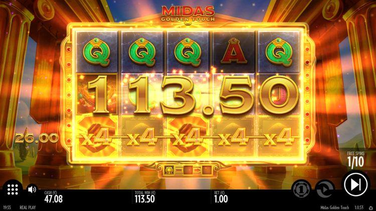 Midas Golden Touch thunderkick bonus big win 3