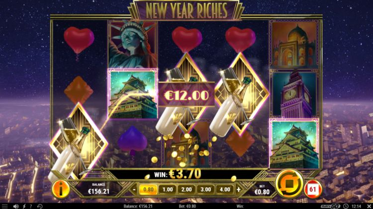 New Year Riches slot review play 'n go