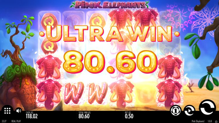 Pink elephants thunderkick ultra win
