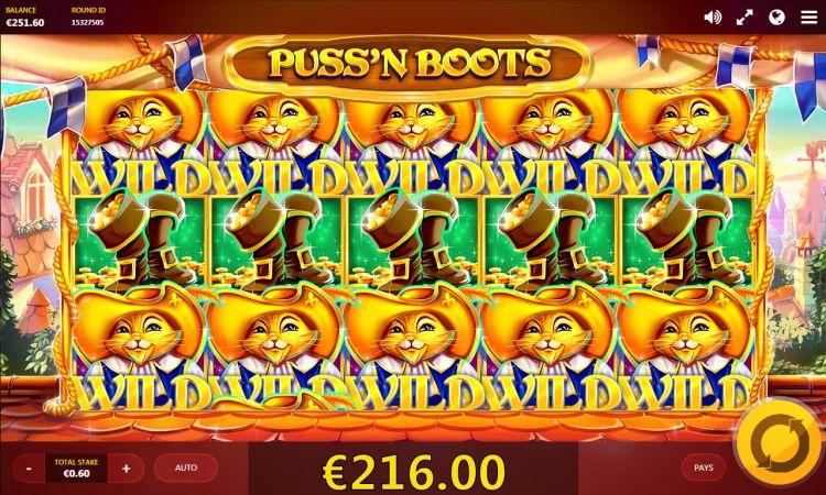 Puss n boots red tiger gaming mega big win