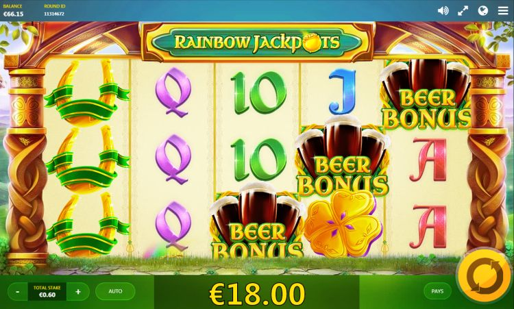 Rainbow-Jackpots-red tiger beer bonus