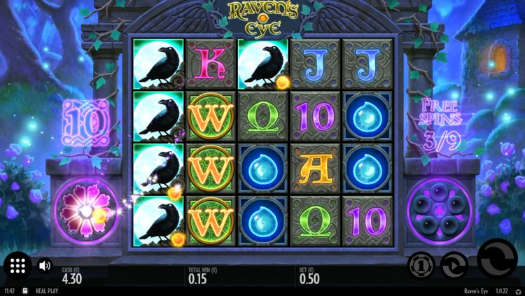 Raven's Eye slot review thunderkick bonus win