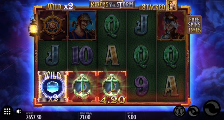 Riders of the storm slot thunderkick free spins win