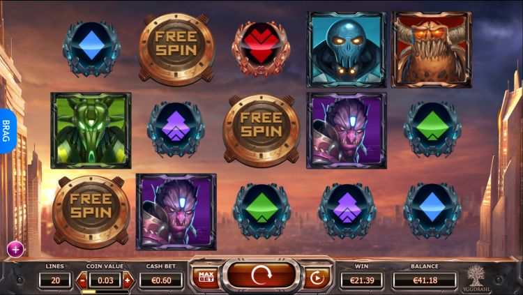 Super Heroes Yggdrasil free spins trigger