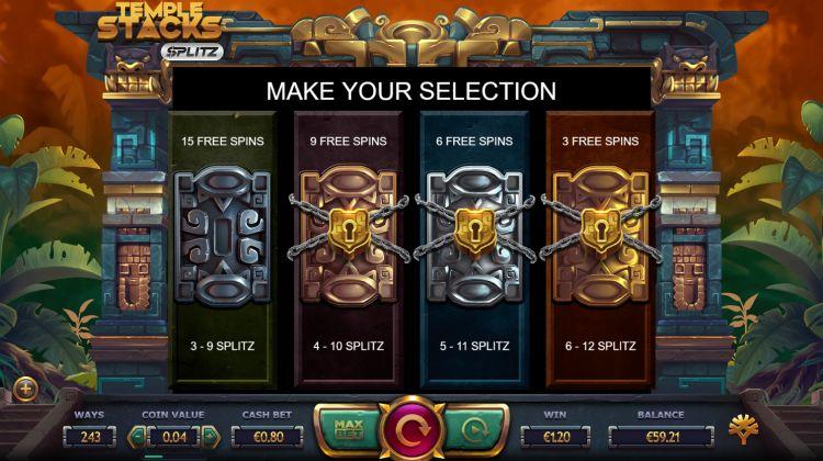 Temple stacks splitz slot bonus uitleg