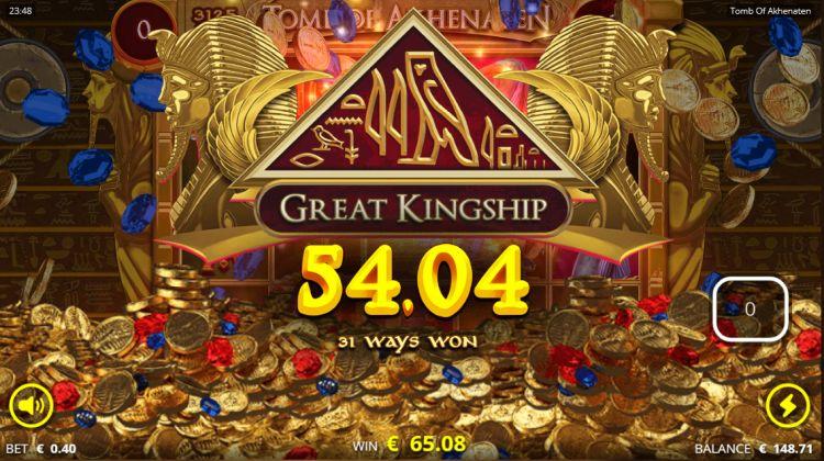 Tomb of akhenaten slot review big win
