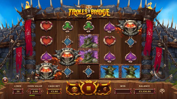 Trolls Bridge 2 Yggdrasil free spins trigger