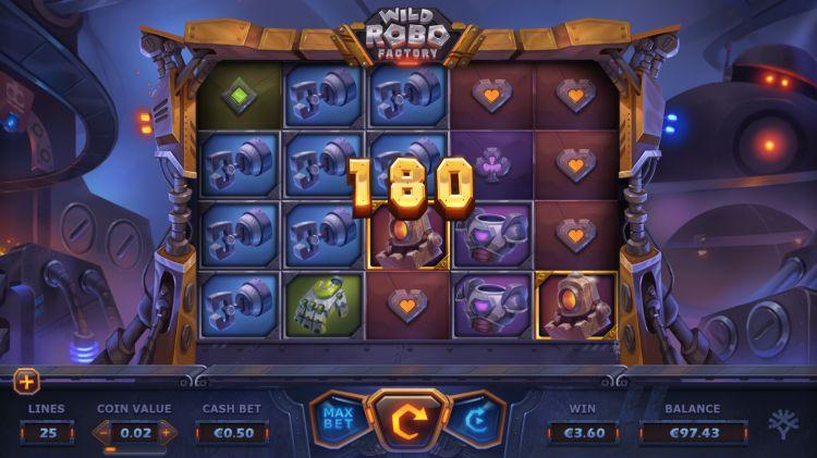 Wild robo factory slot yggdrasil big win