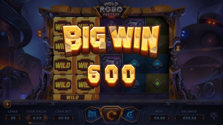 Wild robo factory yggdrasil big win