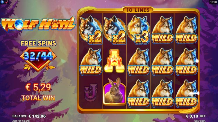 Wolf Howl slot review Just for the free spins win