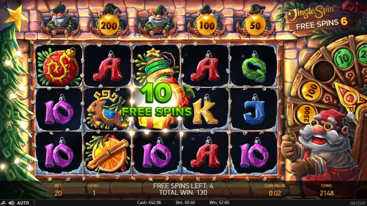 best christmas online slots