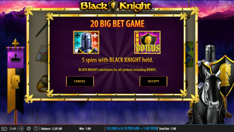 black-knight-slot review wms big bet