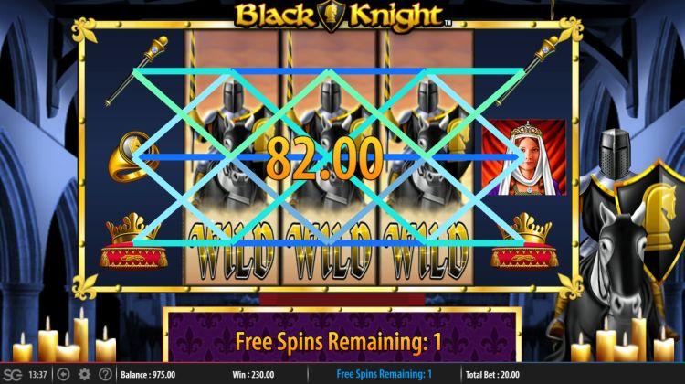black-knight-slot review wms bonus