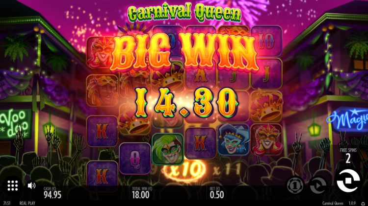 carnival-queen-slot review thunderkick bonus win 2