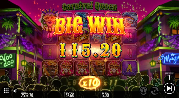 carnival-queen-slot review thunderkick bonus win