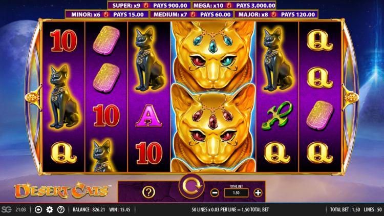 desert cats-slot review wms