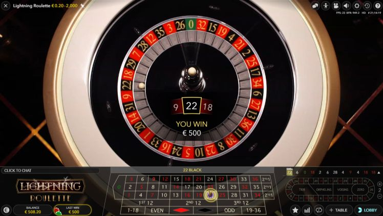 how often does lightning roulette pay out the 500 x bet