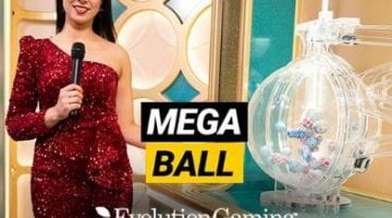 mega ball review evolution gaming logo