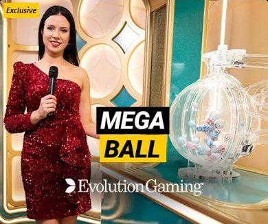 mega ball review evolution gaming logo