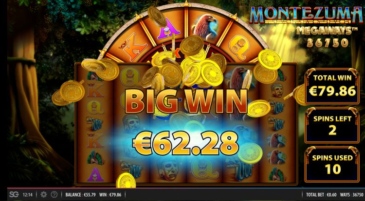 montezuma megaways slot review big win