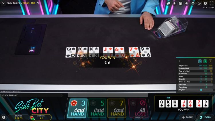 side-bet-city-live-casino-review-evolution-gaming-win