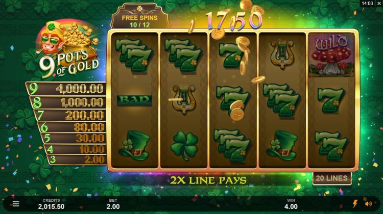 9 pots of gold slot review microgaming free spins