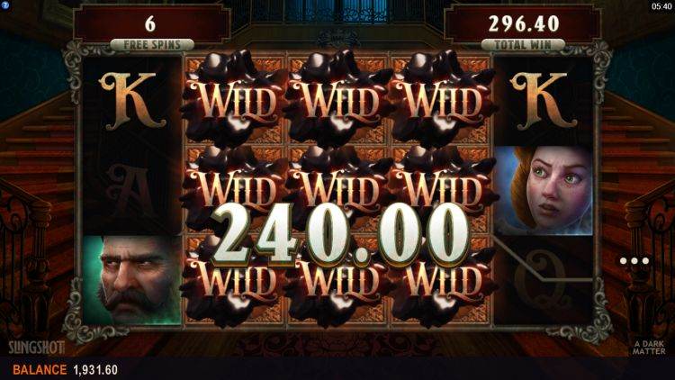 A Dark Matter slot review microgaming free spins