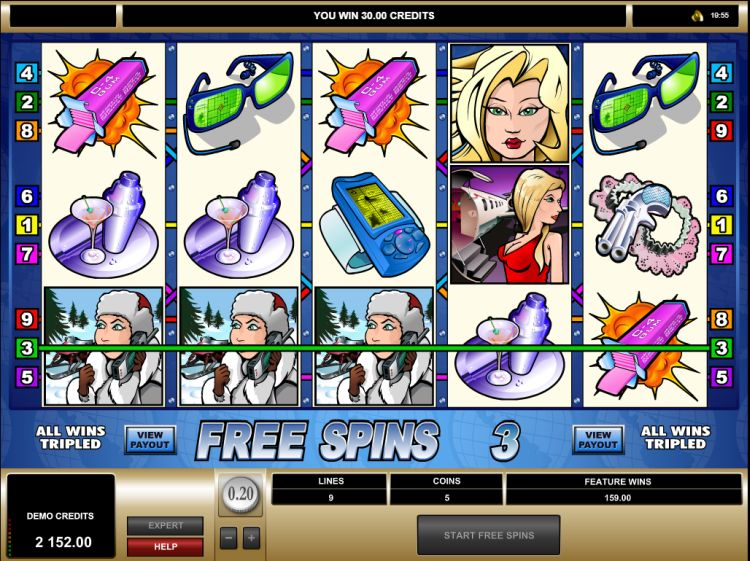 Agent Jane Blonde slot bonus win