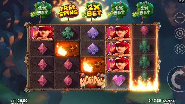 Anderthals slot free spins bonus trigger 2