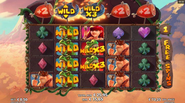 Anderthals slot free spins bonus