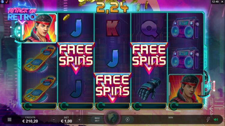 Attack on retro slot microgaming bonus trigger