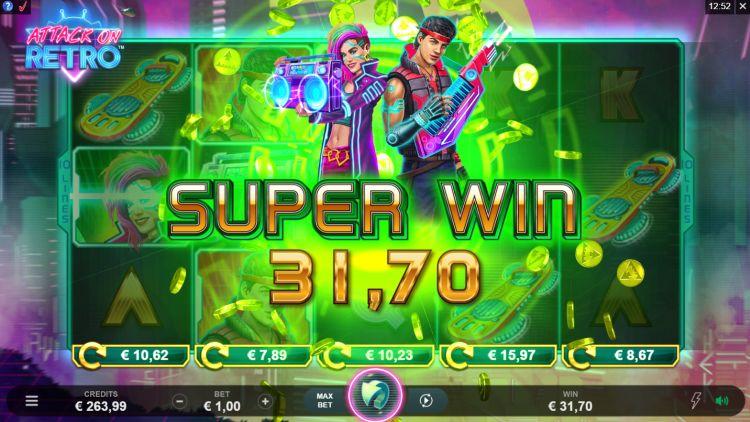 Attack on retro super win