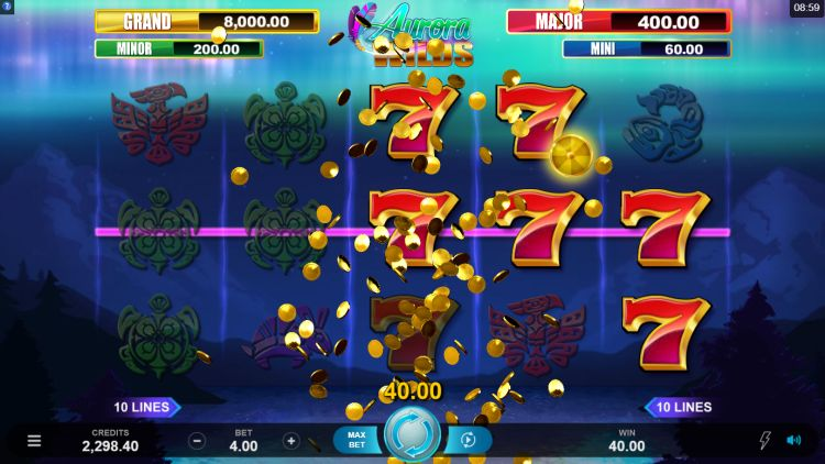 Aurora Wilds slot review Microgaming big win