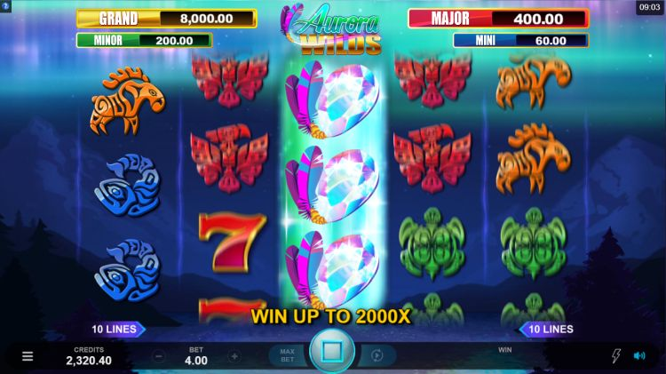 Aurora Wilds slot review Microgaming respin