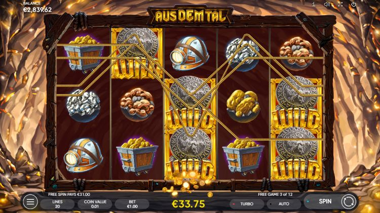 Aus dem tal slot review free spins win