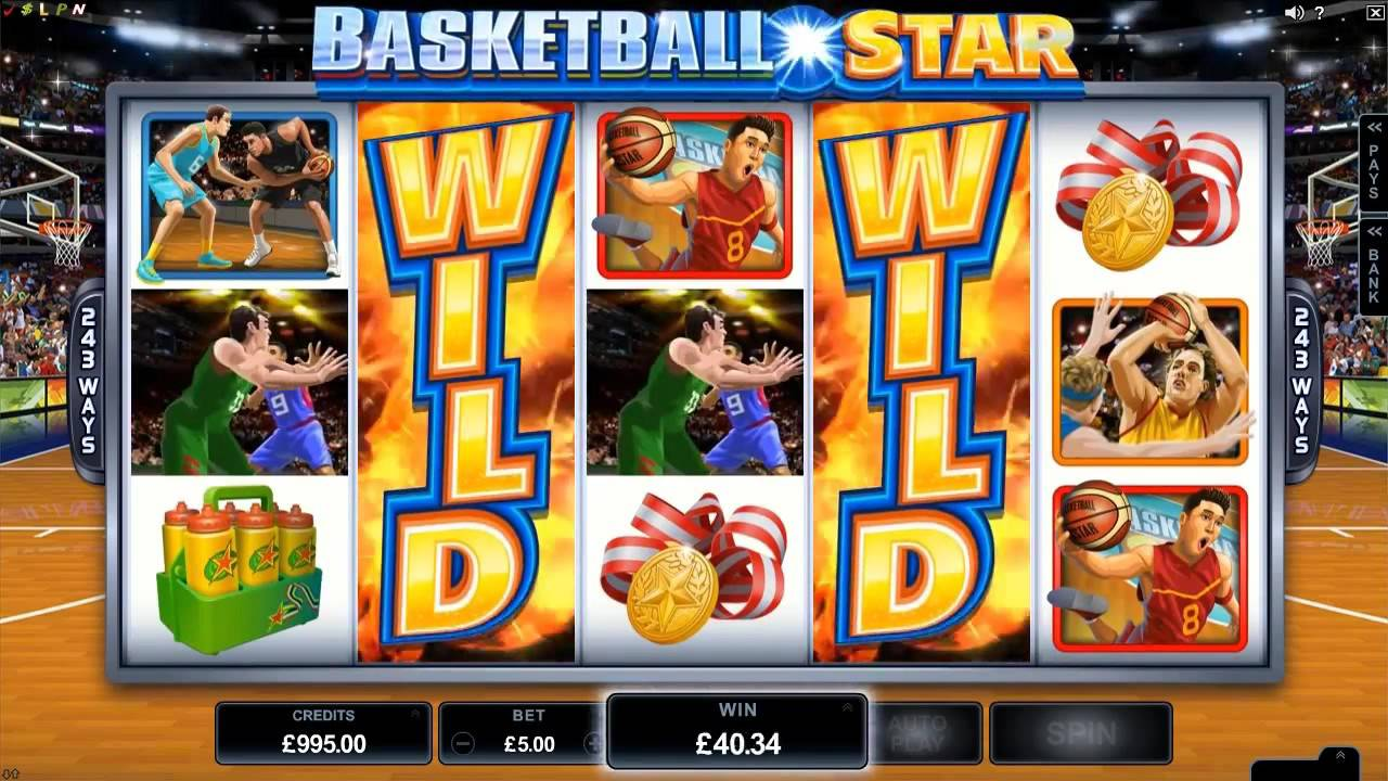 Basketball Star Microgaming wild shot