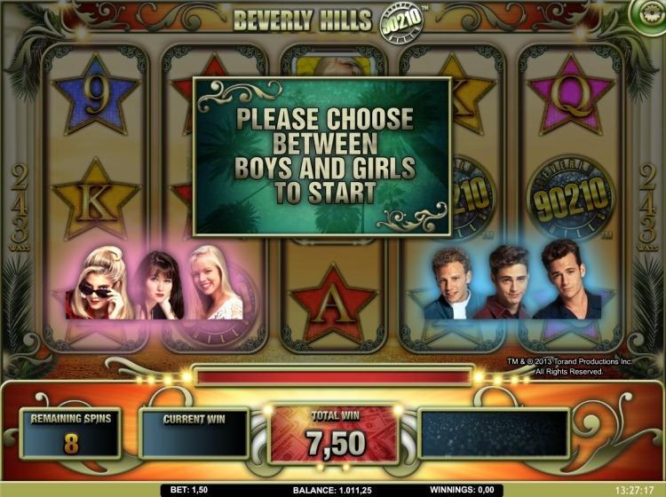 Beverly Hills 90210 slot bonus trigger