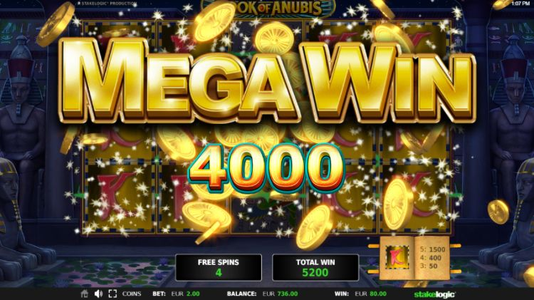Book Of Anubis slot Stakelogic mega win