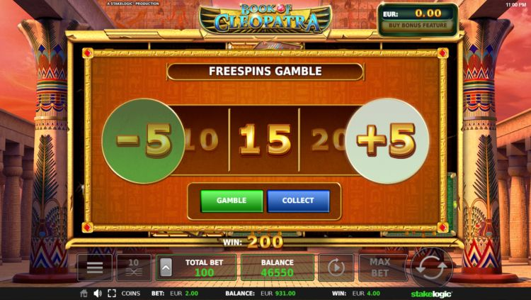 Book of Cleopatra slot review bonus gamble